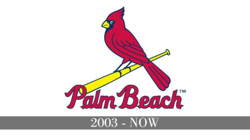Palm Beach Cardinals Logo history