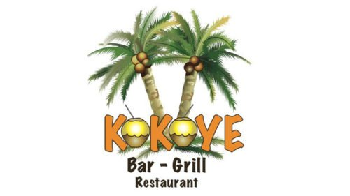 Restaurant with palm tree logo