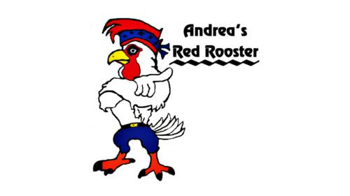 Restaurant with rooster logo