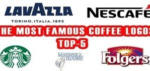 The most famous coffee logos. TOP-5