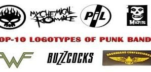 Top-10 Logotypes of Punk Bands