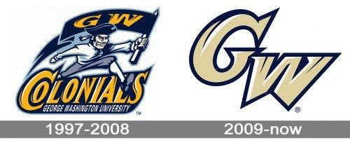 George Washington Colonials logo history