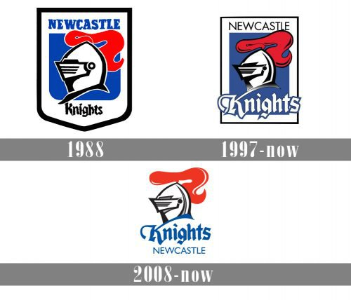 Newcastle Knights Logo history