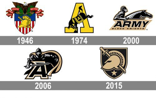 Army Black Knights Logo history