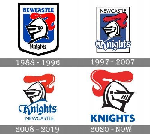 Newcastle Knights Logo history