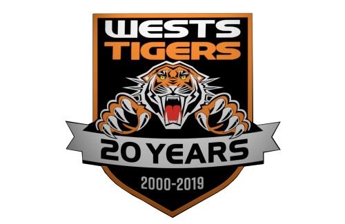 Wests Tigers 20th-anniversary logo