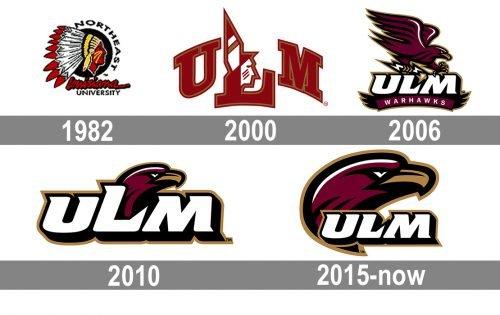 Louisiana-Monroe Warhawks logo history