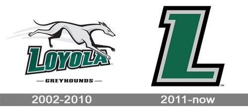 Loyola-Maryland Greyhounds logo history