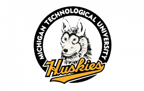 Michigan Tech Huskies Logo-1984