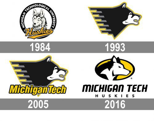 Michigan Tech Huskies Logo history