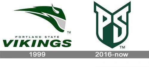 Portland State Vikings logo history