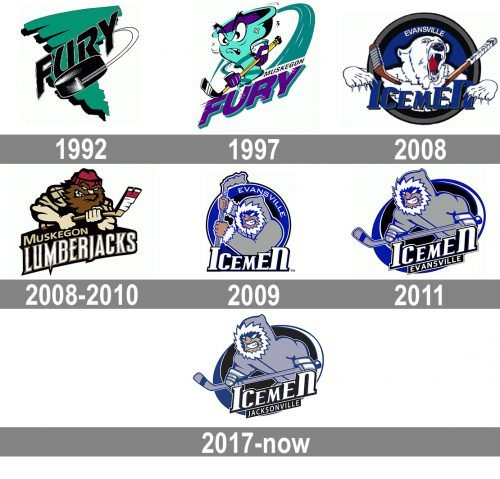 Jacksonville IceMen Logo history