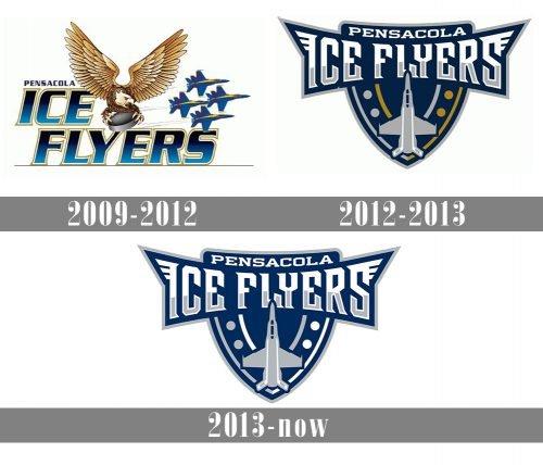 Pensacola Ice Flyers Logo history