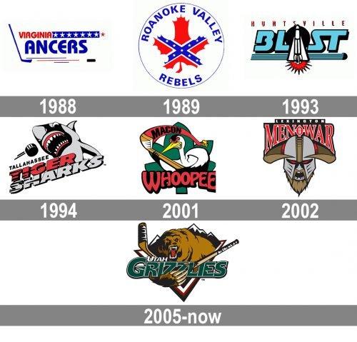 Utah Grizzlies Logo history