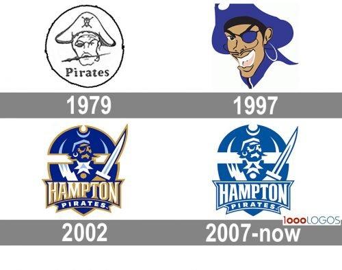 Hampton Pirates logo history