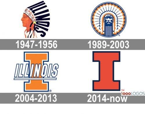 Illinois Fighting Illini Logo history