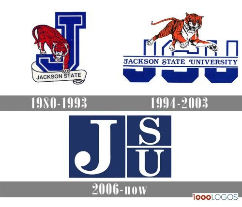 Jackson State Tigers Logo history