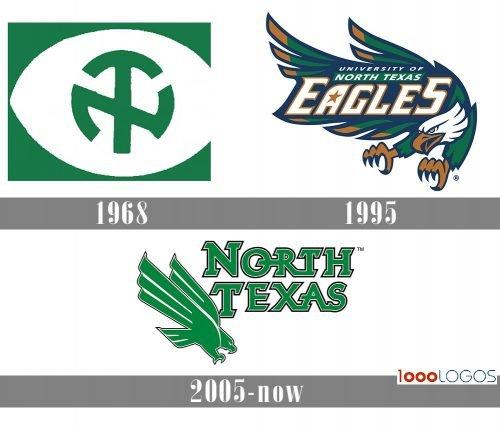 North Texas Mean Green logo history