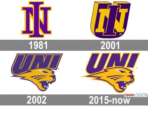 Northern Iowa Panthers Logo history