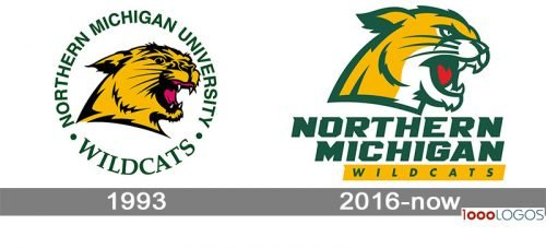 Northern Michigan Wildcats Logo history