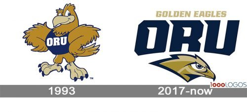 Oral Roberts Golden Eagles Logo history