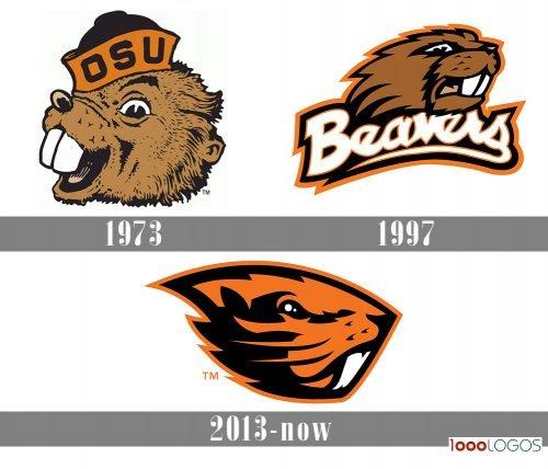 Oregon State Beavers Logo history