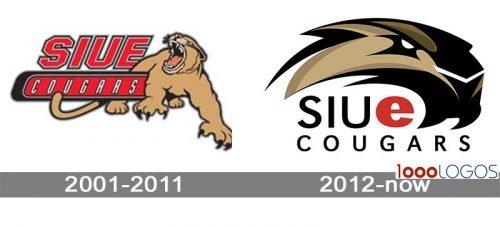 SIU Edwardsville Cougars Logo history
