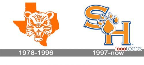 Sam Houston State Bearkats Logo history