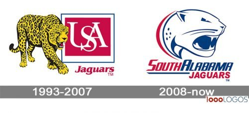 South Alabama Jaguars Logo history