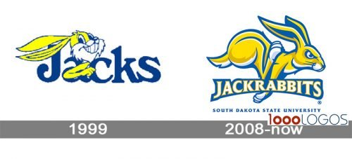 South Dakota State Jackrabbits Logo history