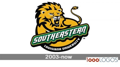 Southeastern Louisiana Lions Logo history
