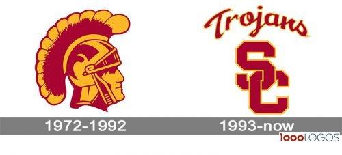 Southern California Trojans Logo history