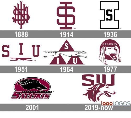 Southern Illinois Salukis Logo history