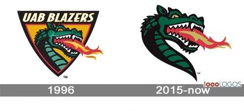 UAB Blazers Logo history