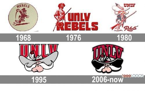 UNLV Rebels Logo history