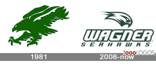 Wagner Seahawks Logo history