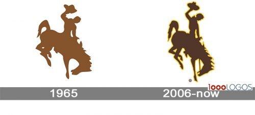 Wyoming Cowboys Logo history