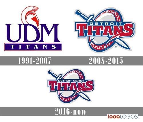 Detroit Titans logo history