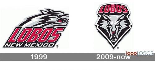 New Mexico Lobos logo history