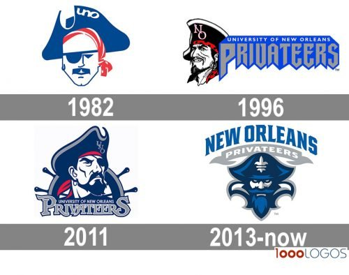 New Orleans Privateers logo history