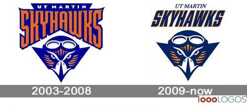 Tennessee Martin Skyhawks Logo history