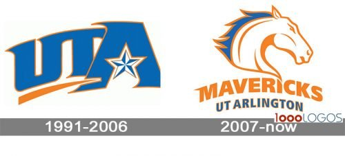 Texas Arlington Mavericks Logo history