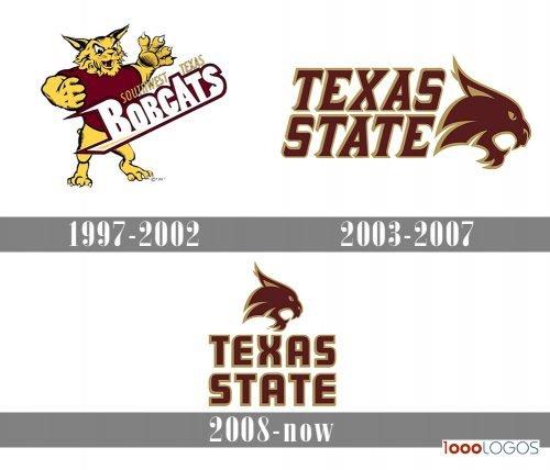 Texas State Bobcats Logo history