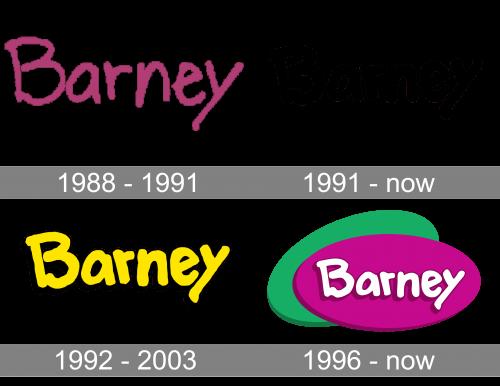 Barney Logo history