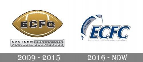 Eastern Collegiate Football Conference Logo history