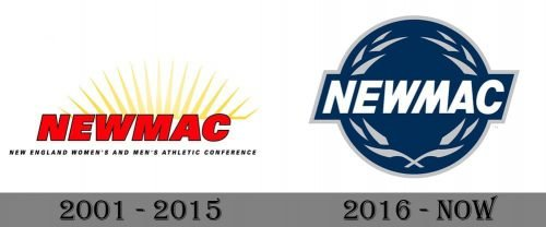 New England Women's and Men's Athletic Conference Logo history