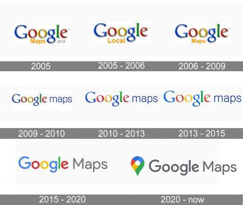 Google Maps Logo history