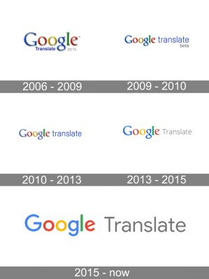 Google Translate Logo history