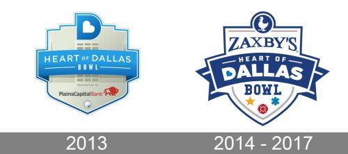 Heart of Dallas Bowl Logo history