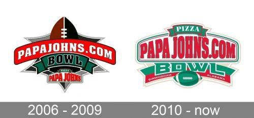 PapaJohnscom Bowl Logo history